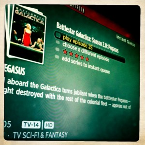 Netflix instant viewing screen of Battlestar Gallactica