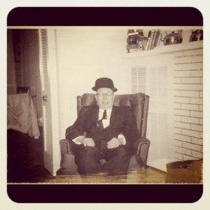 Grandpa sitting in a chair