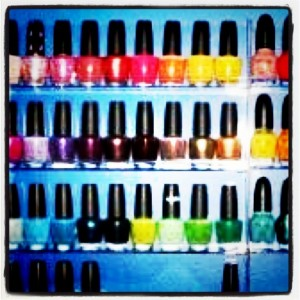bottles of nail polish