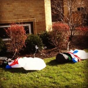 deflated snowmen