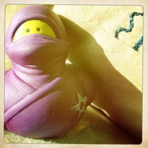 purple rubber ducky