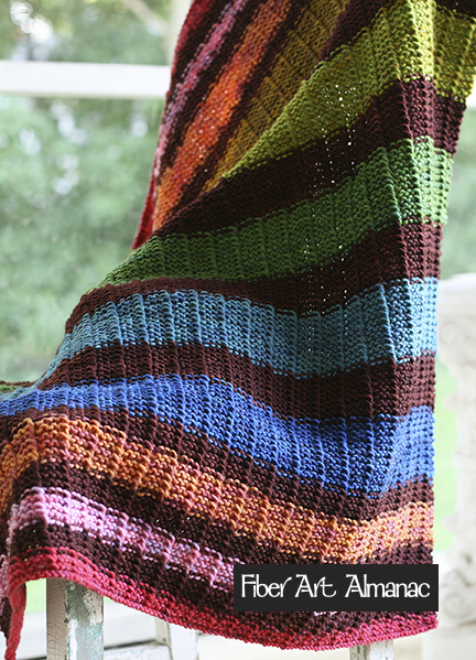 Modern Striped Baby Blanket Pattern Midwest Fiber Arts Trails
