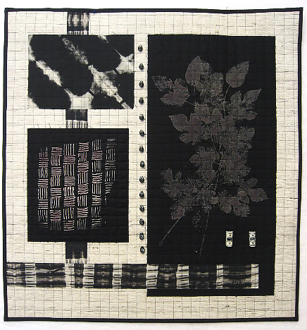 Winter Leaves, 2013, 24 x 25, discharged color, cotton & silk, $400