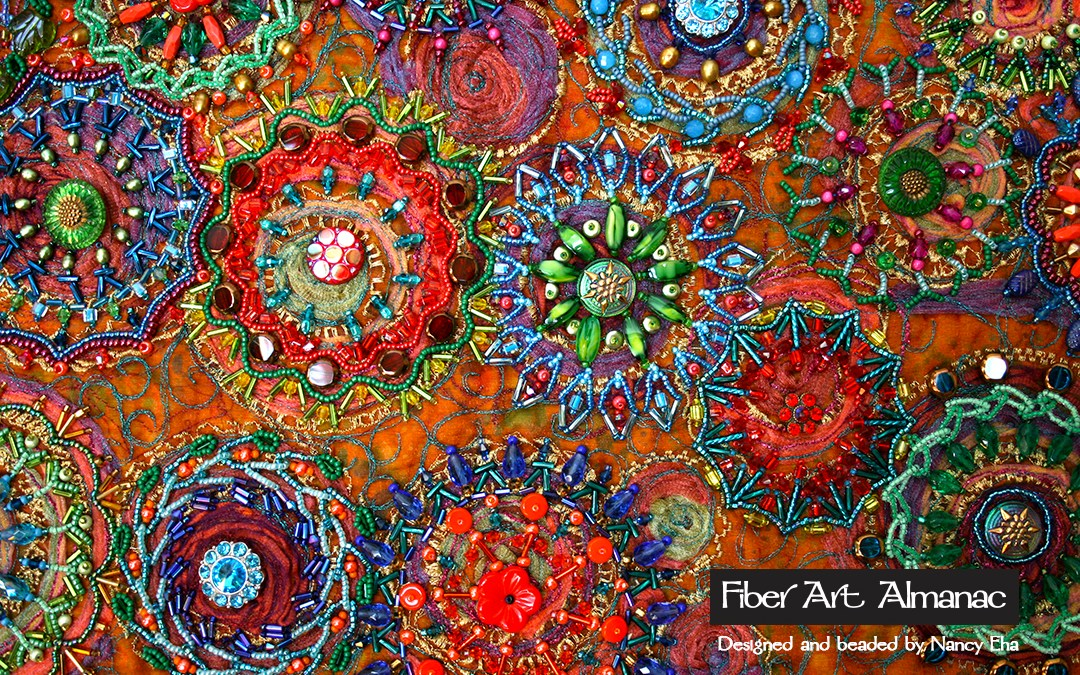 Art elements and principles of design in beaded quilts