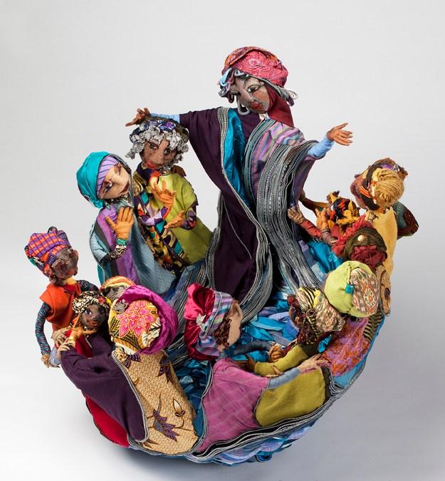 Fiber sculptor Barbara Riegel Bend