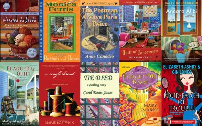 Quilting and knitting mysteries–a welcome distraction from all the holiday hoopla!