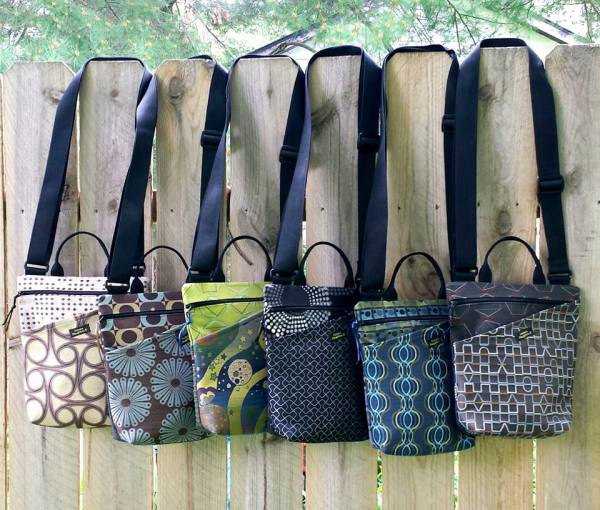bags on fence