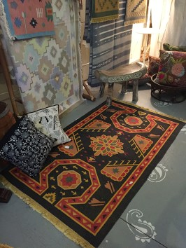 Dhurrie rugs from India.