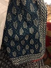 Indigo block print quilt.