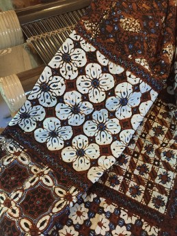 Batik table cloth from Indonesia.