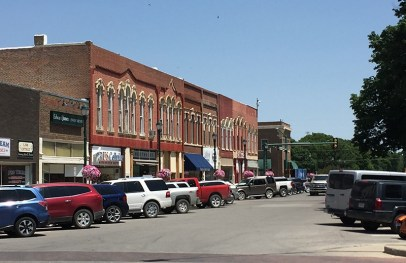 North side of Winterset square.