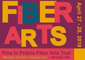 Pine to Prairie Exhibit and Studio Tour April 27 - 28, 2018.