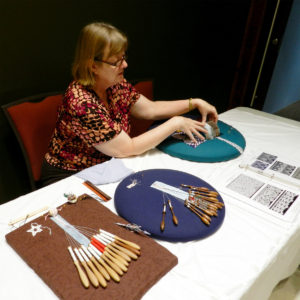 Bobbin Lace Making Demonstration at NCSML