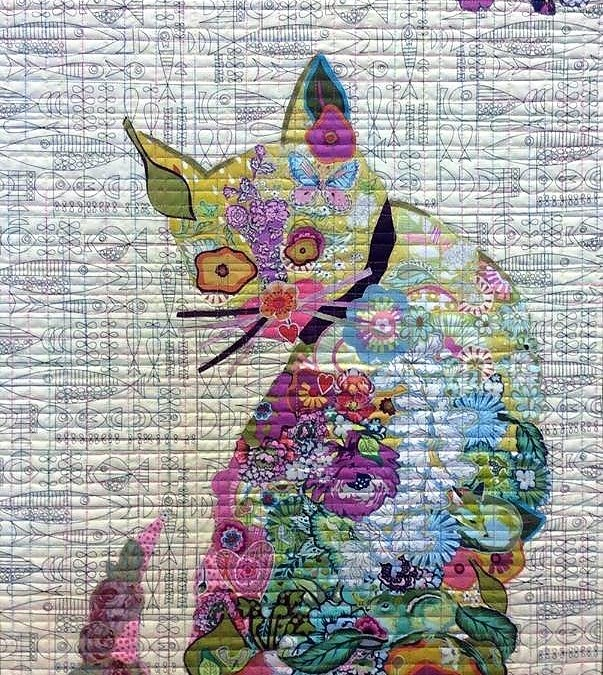 Cat Purrfect Collage Quilt Class