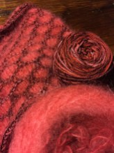 Mohair and sock yarn wrap, Dana Fehrenbach, Prairie du Sac, WI