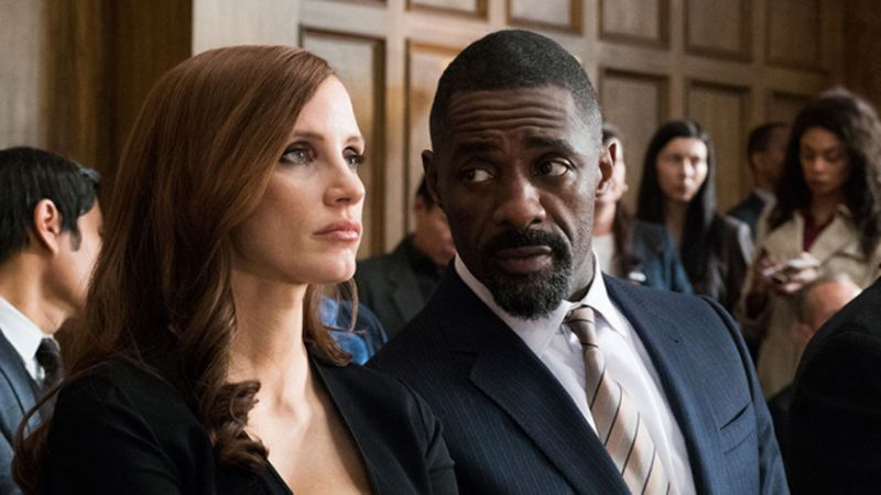 """Jessica Chastain and Idris Elba star in """"Molly's Game,"""" an STX Entertainment release written and directed by Aaron Sorkin."""