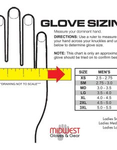 Sizing chart also use care  midwest glove rh midwestglove