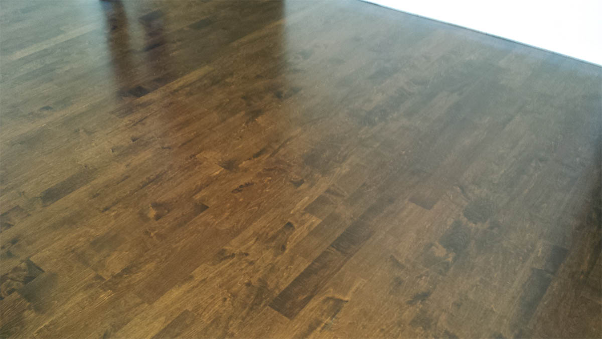 Dark Stained Color on Maple  Midwest Hardwood Floors Inc