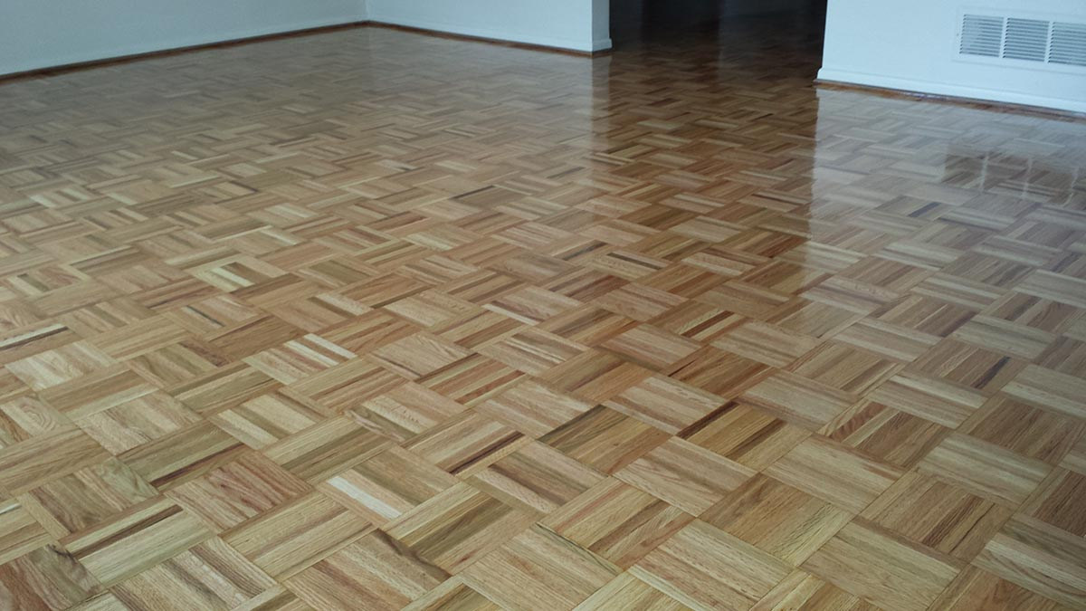 Teak Parquet Floor Repaired  Refinished  Midwest