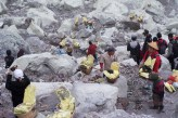 Miners carrying sulphur out of Ijen