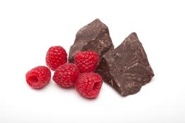 Rasberries and chocolate