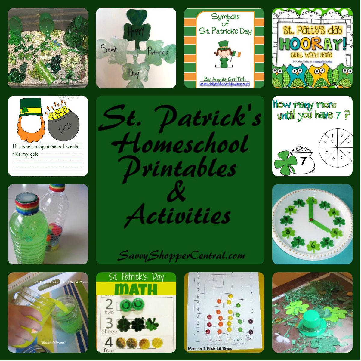 15 St Paddy S Day Homeschool Activities