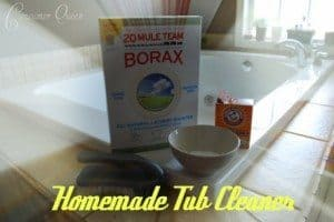 Homemade bathtub cleaner