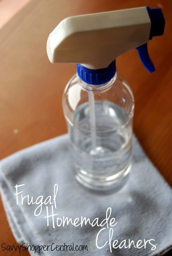 Save yourself some money & limit chemical exposure by making your own cleaners! Here are some of my favorite frugal homemade cleaners to get you started!