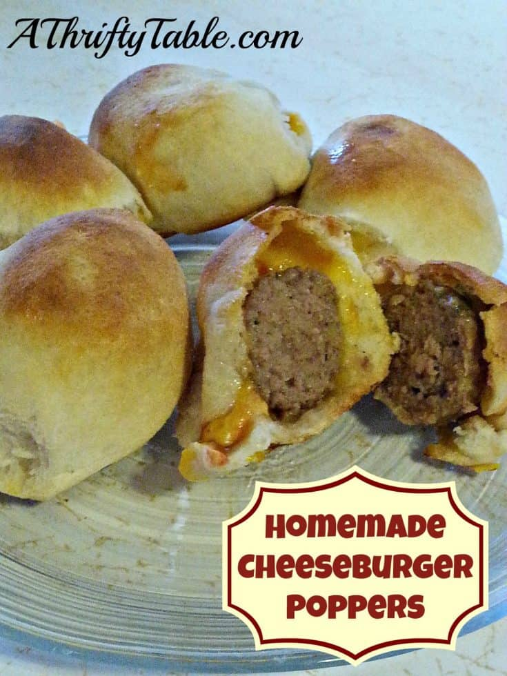 Homemade Cheeseburger Poppers
