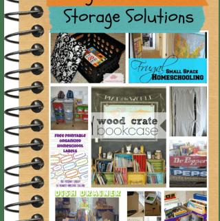 Frugal Homeschool Storage Solutions