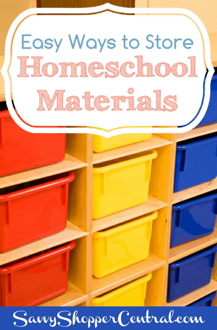 Easy Ways to Store Homeschool Materials  Midwest Modern Momma