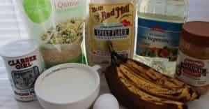 Peanut Butter & Banana Quinoa Muffin Recipe Ingredients