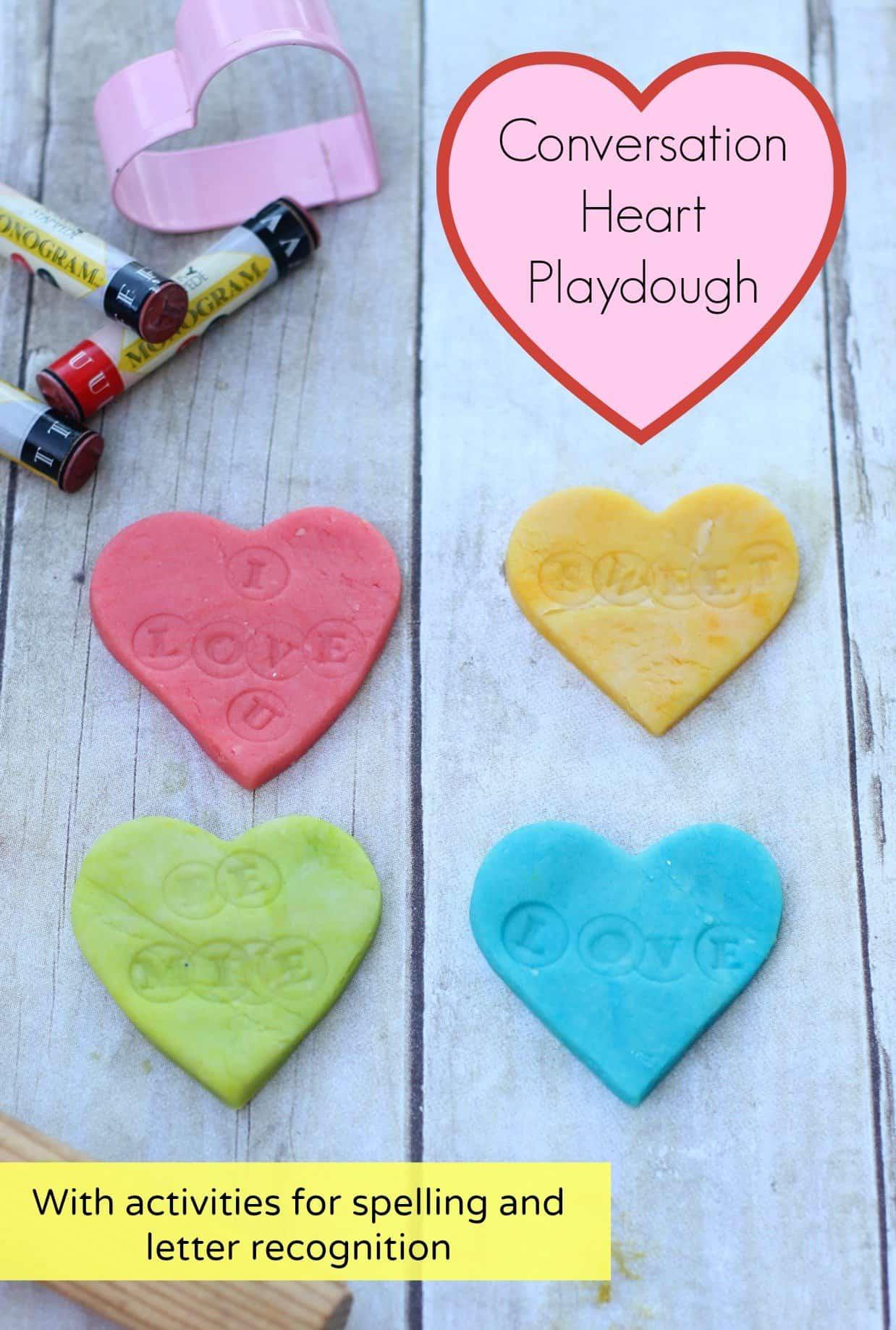 Conversation Heart Play Dough