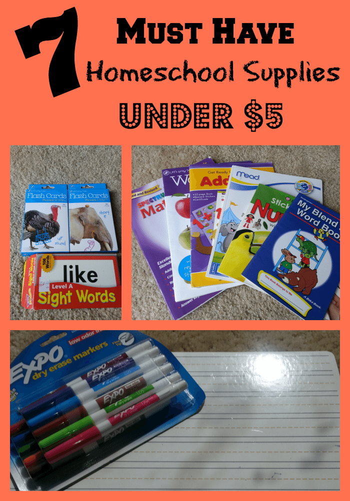7 Must Have Homeschool Supplies Under $5