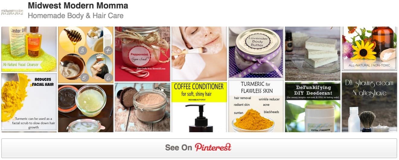 Homemade Body Care Products Pinterest Board
