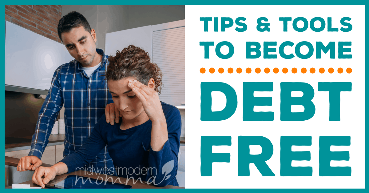 Become Debt Free this year with our top Tips & Tools! Use our Guide To Paying Off Debt to accomplish your dream of living debt free with ease!