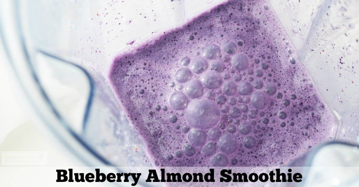 Almond Milk Smoothies are a great nutritious Paleo breakfast! This Blueberry Almond Milk Smoothie is a favorite that is full of antioxidant health benefits!