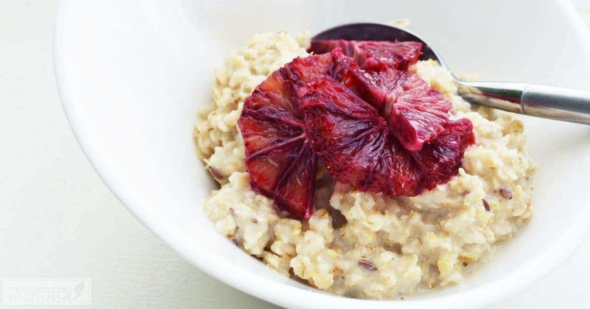 Blood Orange Oatmeal