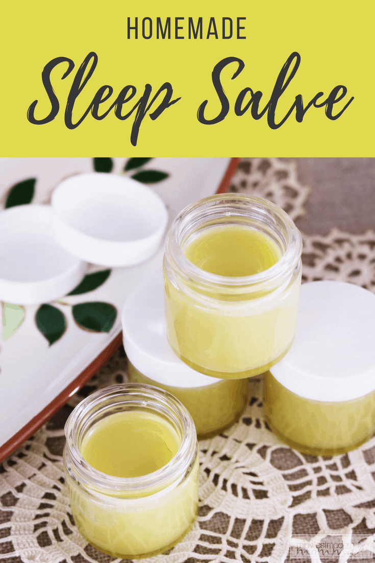 Nighttime Sleep Aid Homemade Sleep Salve: Make this simple and effective Nighttime Sleep Aid to help make bedtime easy to manage with a natural option!