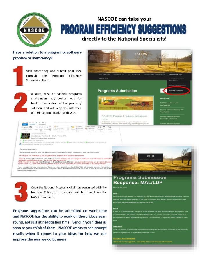 Programs flyer - NASCOE