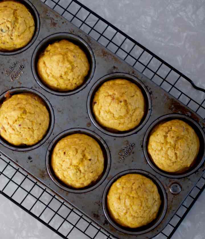 pumpkin cran muffins 3