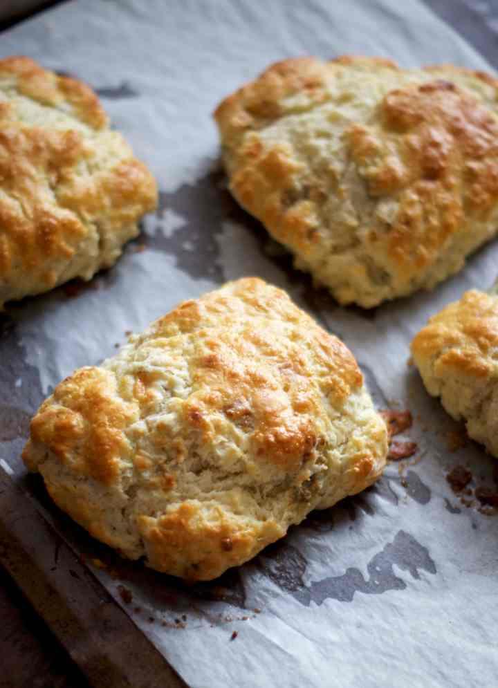 Blue Cheese Biscuit Breakfast Sammies | via Midwest Nice Blog