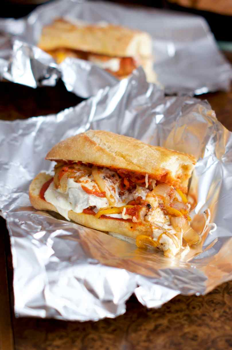 Chicken Parm Subs   via Midwest Nice Blog