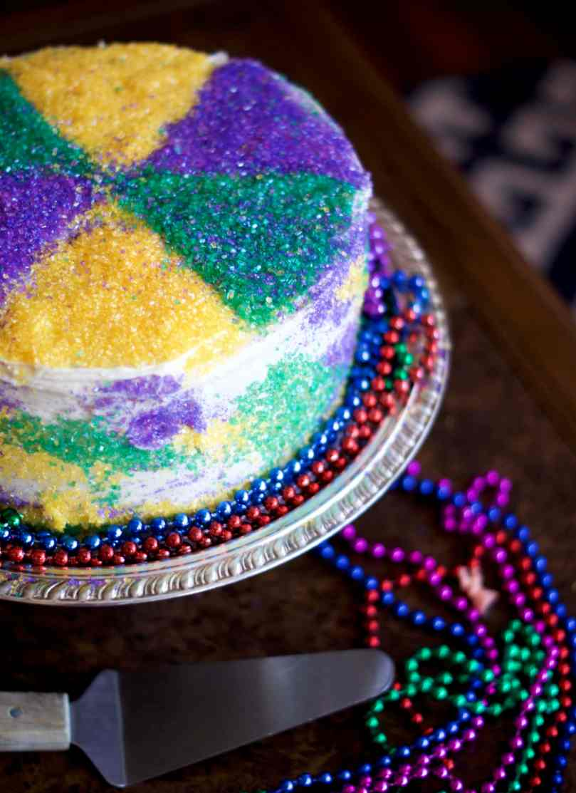 King Cake Layer Cake | via Midwest Nice Blog