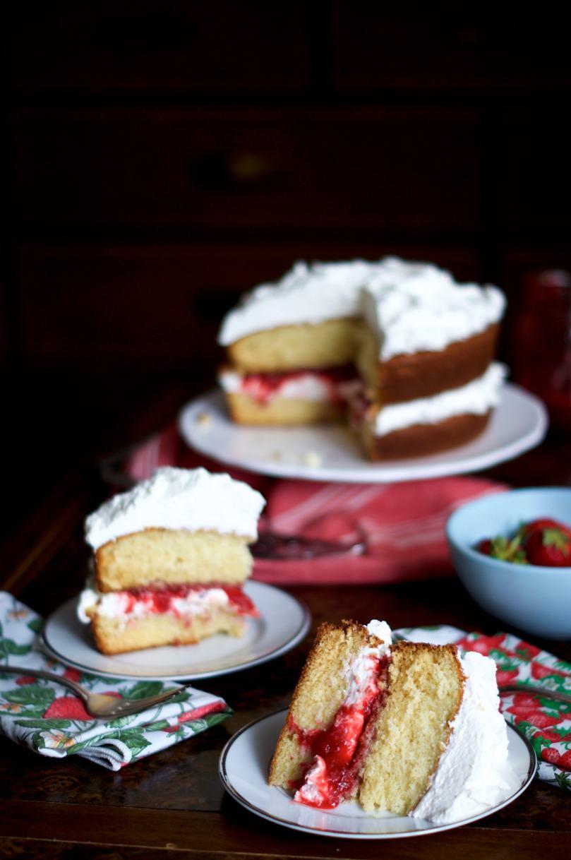 Berries & Cream Cake via Midwest Nice Blog