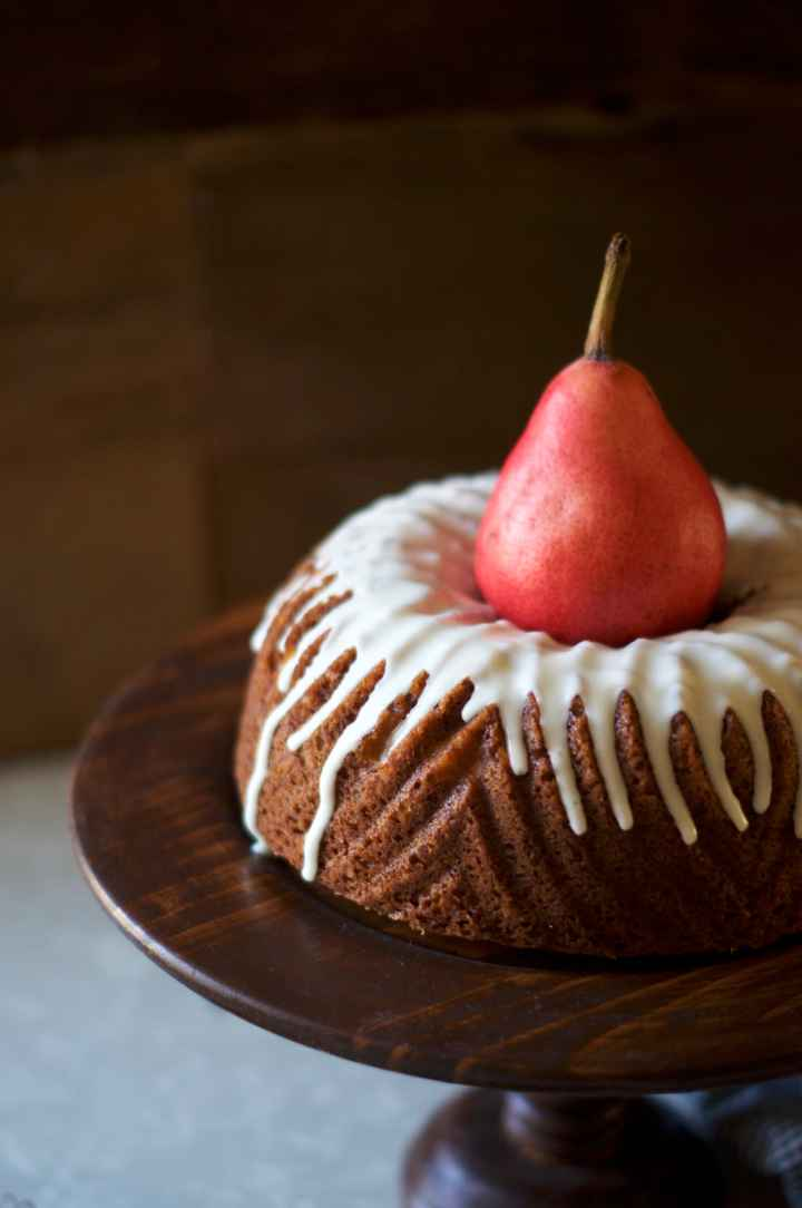 Brandy Pear Bundt Cake via Midwest Nice Blog
