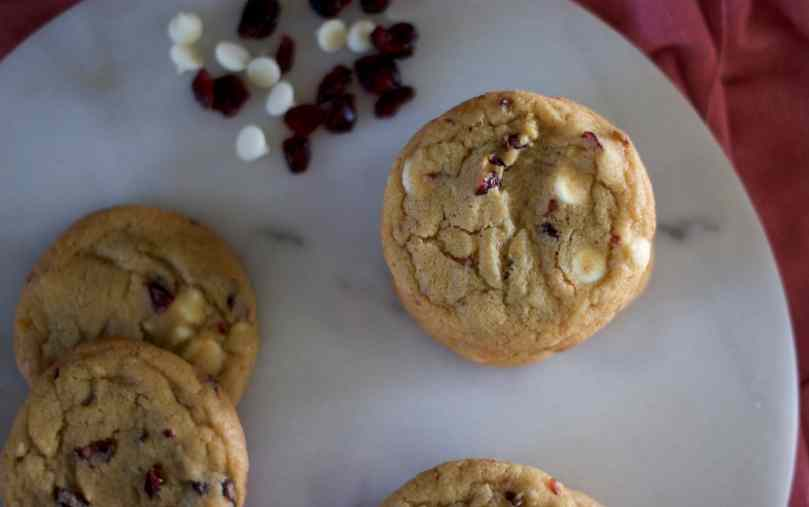 Cranberry, White Chocolate & Orange Drop Cookies