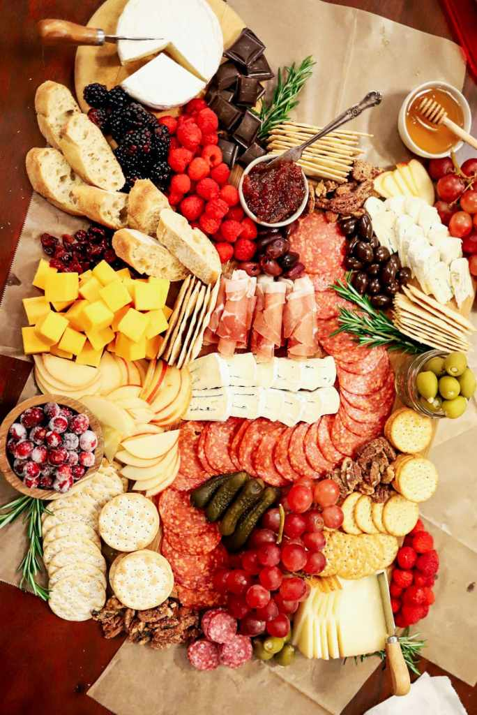 Cheeseboard Charcuterie Board Meat and Cheeseboard