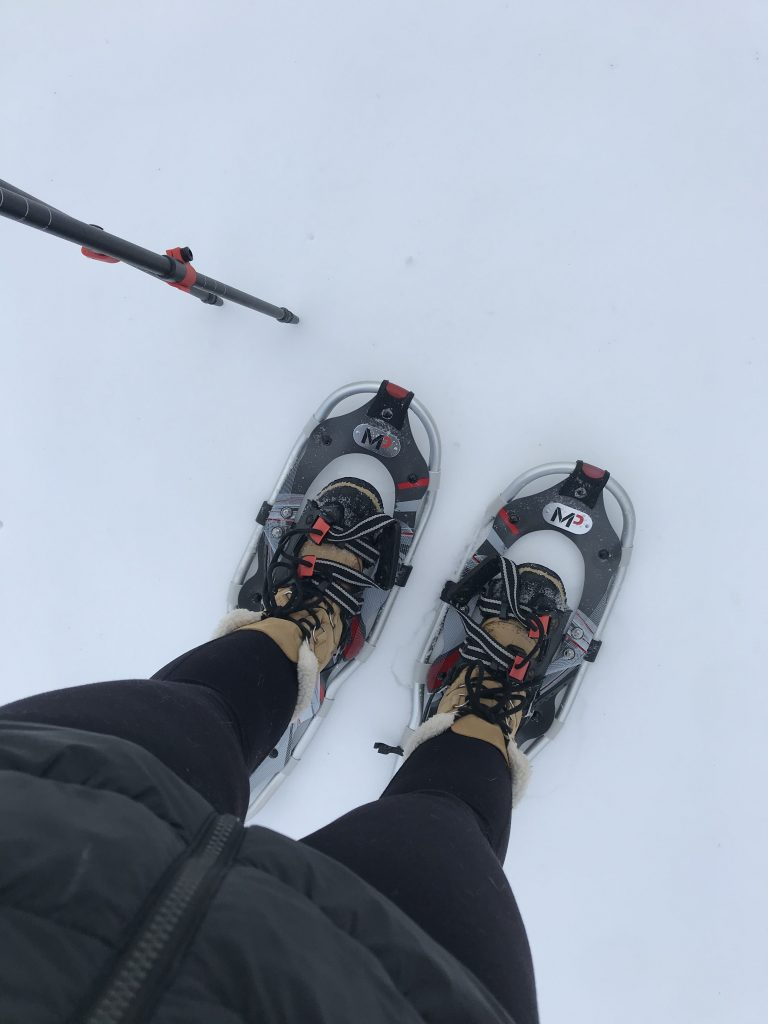 snow shoeing in Wisconsin