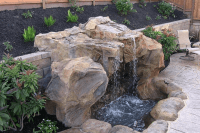 Custom pool waterfalls, water features, ponds & backyard